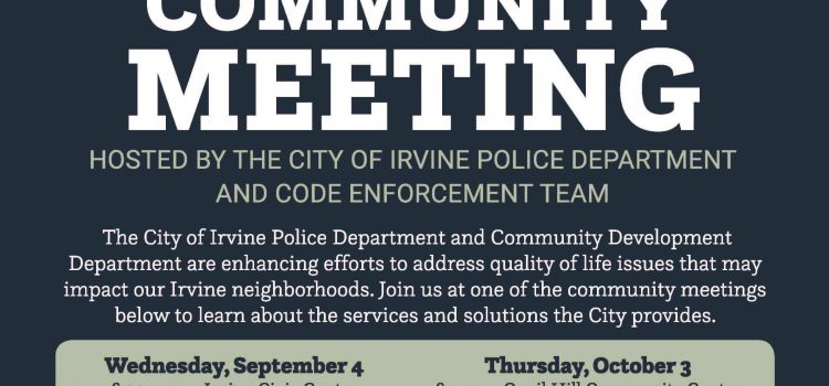 Irvine Police Department Community Meeting